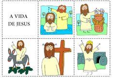 a vida de Jesus parte 2...para montar a cruz com as crianças