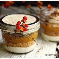 Layered Pumpkin Pie in a Jar
