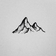 Image result for tattoos black dot mountains simple