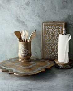 Paper Towel Holder by GG Collection at Neiman Marcus.