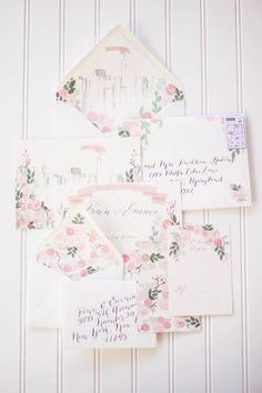 Precious floral invitation suite | by Moira Design Studio #wedding #invites #paper goods