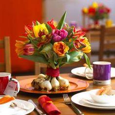 Tolle Ideen für eine frische Frühlingsdeko mit Zwiebelblumen.www.blooms.de