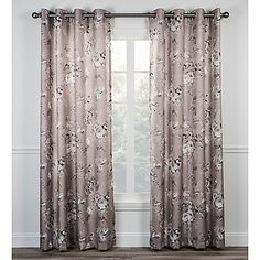 Chatsworth 84-Inch Grommet Top Window Curtain Panel in Grey