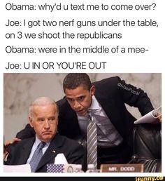 Obama Biden memes.