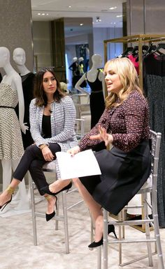 """St. John in convo focused on the topic of how women can build their personal brands in today's, """"self-starter"""" business culture. Hosted at our Beverly Hills boutique, Who What Wear's Co-Founder Hillary Kerr led the discussion with Jen Atkin, who shared her experiences on the path to becoming one of Hollywood's most in-demand hairstylists."""