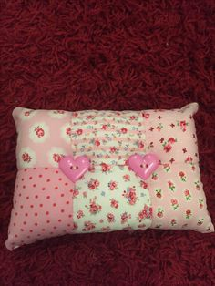 Hand sewn patchwork cushion