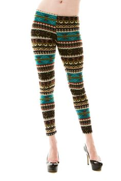 Charlotte Knit Sweater Leggings -- Perfect patterned knit sweater leggings for cool weather! Pair them with boots and a comfy sweater.