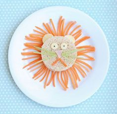 50+ Kids Food Art Lunches - Lion Food Art