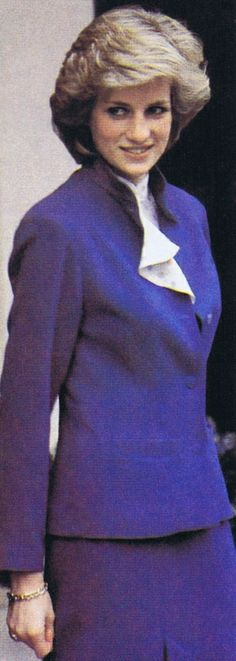 1984-02-22 Diana visits the British Red Cross Society's National Headquarters in London