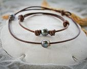 Tahitian Pearl and Leather Bracelet