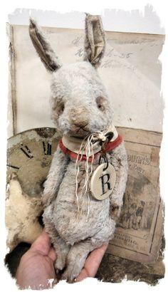 "Изображение NEW DESIGN * Старый Hare * 10"" Vintage Style Frumpy Rabbit * медведями Whendi в"