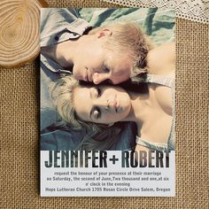 Romantic photo wedding invitations sets with free rsvp cards and envelopes - modern invitation cards EWI316 on Etsy, $1.50