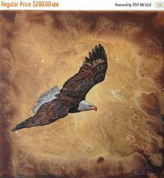 ON SALE original painting // eagle painting// by EvaVolfArt