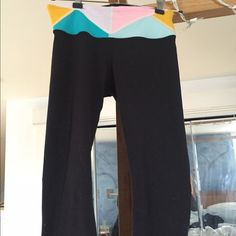 """2pair yoga pants Gently worn 12 """" waist; 32 in inseam Other"""