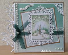 color match used card picture Christmas Cards 2018, Christmas Greeting Cards, Greeting Cards Handmade, Spellbinders Christmas Cards, Spellbinders Cards, Shabby Chic Xmas Cards, Winter Karten, Scrapbook Cards, Scrapbooking