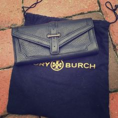 "Tory burch NAVY 797 continental wallet NWT! Navy pebbled leather. Snap button flap closure. One outside open pocket.  One inside zip pocket; Four credit card slots; Two bill compartments Fully lined;7½""W X 3½""H X 1""D No trades or pp. Tory Burch Bags Wallets"