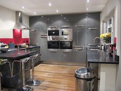 Grey gloss kitchen Grey Gloss Kitchen, Kitchen Ideas, Table, Furniture, Home Decor, Kitchen, Kitchen Grey, Decoration Home, Room Decor