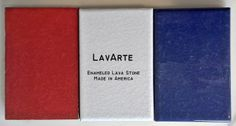 American Made enameled lava stone