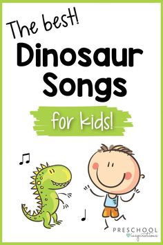 "Dinosaur songs for kids that are a roaring good time! I ""dino"" about you, but children LOVE dinosaurs and they're sure to love these dinosaur songs! Songs that are educational as well as just plain fun. There's even some great dinosaur songs for circle time! Silly Songs For Kids, Kids Songs With Actions, Songs For Toddlers, Dinosaur Songs For Preschool, Preschool Music Activities, Preschool Library, Preschool Teachers, Dinosaur Crafts, Preschool Activities"