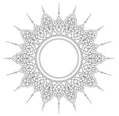 ornamental circle - /page_frames/old_ornate_borders/ornate_frames/ornamental_circle. Calligraphy Borders, Islamic Art Calligraphy, Calligraphy Alphabet, Stencil Patterns, Pattern Art, Stencil Designs, Zentangle Patterns, Islamic Art Pattern, Arabesque Pattern