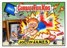 Computer Repair Garbage Pail Kid by Luis Diaz