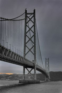 Akashi Kaikyō Bridge ( Pearl Bridge ), Akashi Strait, Kobe - Awaji Island, Japan