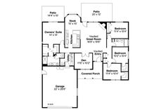 Ranch Style House Plan - 4 Beds 2.5 Baths 1835 Sq/Ft Plan #124-295 Floor Plan - Main Floor Plan - Houseplans.com