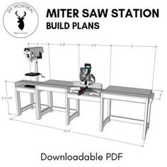 Miter Saw Station (plans Available): 10 Steps (with Pictures) diy beginner diy pallet diy projects diy rustic diy woodworking Woodworking Jig Plans, Woodworking Shop Layout, Woodworking Workshop, Woodworking Projects Diy, Woodworking Furniture, Diy Projects, Woodworking Techniques, Wood Furniture, Small Woodworking Shop Ideas