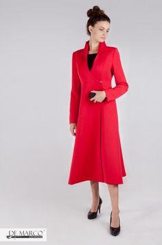 Czerwony płaszcz poszerzany, szyty na miarę.   #red #coat  #exclusive #plaszcz #frydrychowice #wadowice #kraków