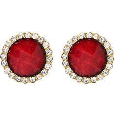 Amrita Singh Bridgehampton Earring ($50) ❤ liked on Polyvore featuring jewelry, earrings, accessories, jewels, red, amrita singh, red jewelry, amrita singh earrings, amrita singh jewelry and red earrings