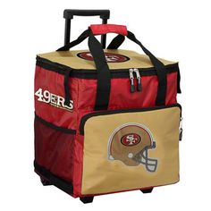 San Francisco 49ers Red Rolling Cooler