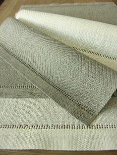 Handwoven Latvian linen placemats