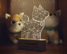Origami shiba desk light
