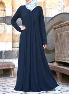 SHUKR's long dresses and abayas are the ultimate in Islamic fashion. Abaya Designs, Muslim Women Fashion, Islamic Fashion, Hijab Style Dress, Abaya Style, Hijabs, Abaya Mode, Niqab Fashion, Hijab Stile