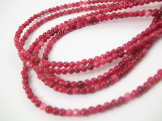 Beads One - Dyed Jade Round Dark Red Coral 4mm, $4.50 #beading #supplies wholesale jewelry making gemstones stone #beads (http://www.beadsone.com/gemstones/dyed-jade-round-dark-red-coral-4mm.html)