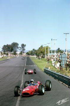 1965 GP Meksyku (#2 Lorenzo Bandini & #14 Pedro Rodriguez) Ferrari 1512
