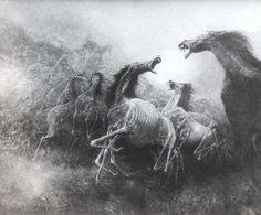 Znalezione obrazy dla zapytania beksinski konie