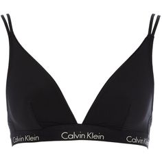 Calvin Klein CK one micro triangle (590 ZAR) ❤ liked on Polyvore featuring intimates, bras, lingerie, underwear, black, calvin klein, women, lingerie bras, nylon lingerie and nylon bra
