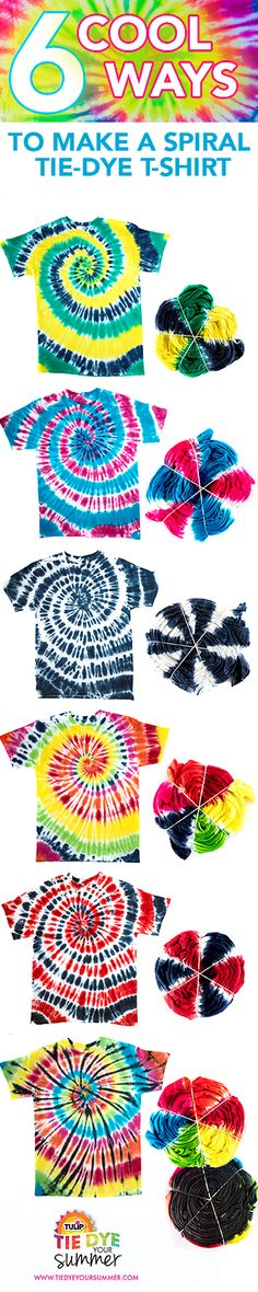 The Official Store for Tulip Tie-dye Products. Learn how to tie dye with our easy instructions and various techniques. Create all your favorite tie-dye designs with 1 kit. Shibori, Diy Tie Dye Shirts, Diy Shirt, Diy Tank, Sewing Patterns Girls, Pattern Sewing, Pants Pattern, Clothes Patterns, Batik Shirt