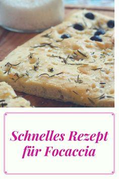 Rezept für schnell gebackenes Focaccia-Brot: Ideal zum Grillen ist dieses Foccaccia mit Oliven und frischen Kräutern und Hefeteig.