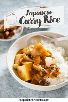 Japanese curry rice is an ever-popular and delicious Japanese take away food. This Japanese curry rice recipe is versatile. It can be made with different types of protein sources such as Beef, Chicken, Pork and Seafood. Also, any vegetables can be used. Japanese typically use curry roux to make curry. Learn how to make easy Japanese curry rice with my step by step recipe and video. #Japanesecurry #Curry #curryrice #Japanesetakeaway #Japanesecurryrecipe #Japanese #chicken #beef #Japaneserecipe Best Chicken Recipes, Pork Recipes, Seafood Recipes, Cooking Recipes, Thai Recipes, Rice Recipes, Asian Recipes, Japanese Takeaway, Japanese Food