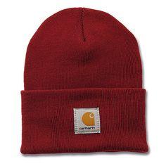 d7251b8c09363 Carhartt A18 Watch Hat. 100% Acrylic Rib Knit Carhartt woven label sewn on  the