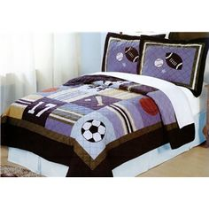 All State Sports Quilt Set with Pillow Sham