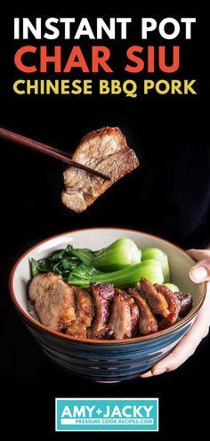 Keto Crockpot Recipes, Pork Recipes, Asian Recipes, Cooking Recipes, Chinese Recipes, Instant Pot Pressure Cooker, Pressure Cooker Recipes, Chinese Bbq Pork