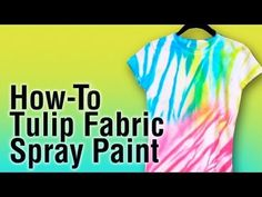 how to use tulip fabric spray paint youtube more. Black Bedroom Furniture Sets. Home Design Ideas