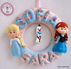 Guirlanda Princesas Elsa e Anna