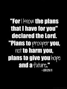 God's plan for you..