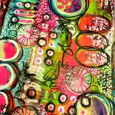 """art journal page ideas - """" busy, but good (via (50) Pin by allmixedupart on art journal pages - inspire me 2 create 