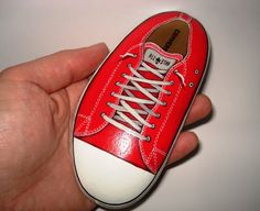 Red All Star Painted Stone by KanetisStones