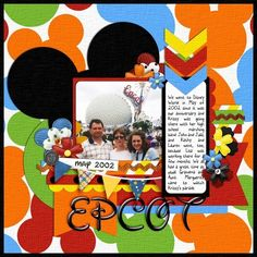 Disney Scrapbook Page Layout - Remember the Epcot Wand by Donna